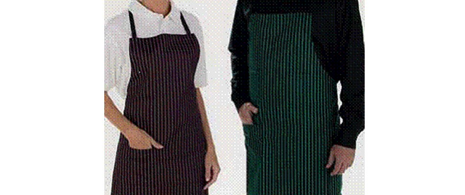 Delantal a rayas para hosteler a hosteltex - Textiles para hosteleria ...
